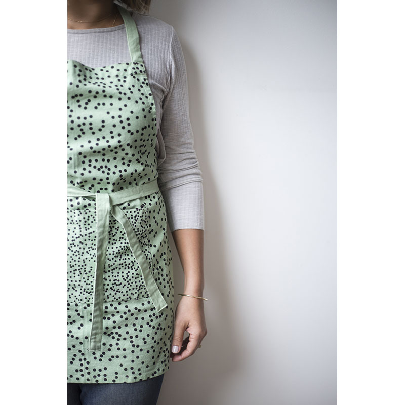 Fruity spots Apron - Mint (boxed)