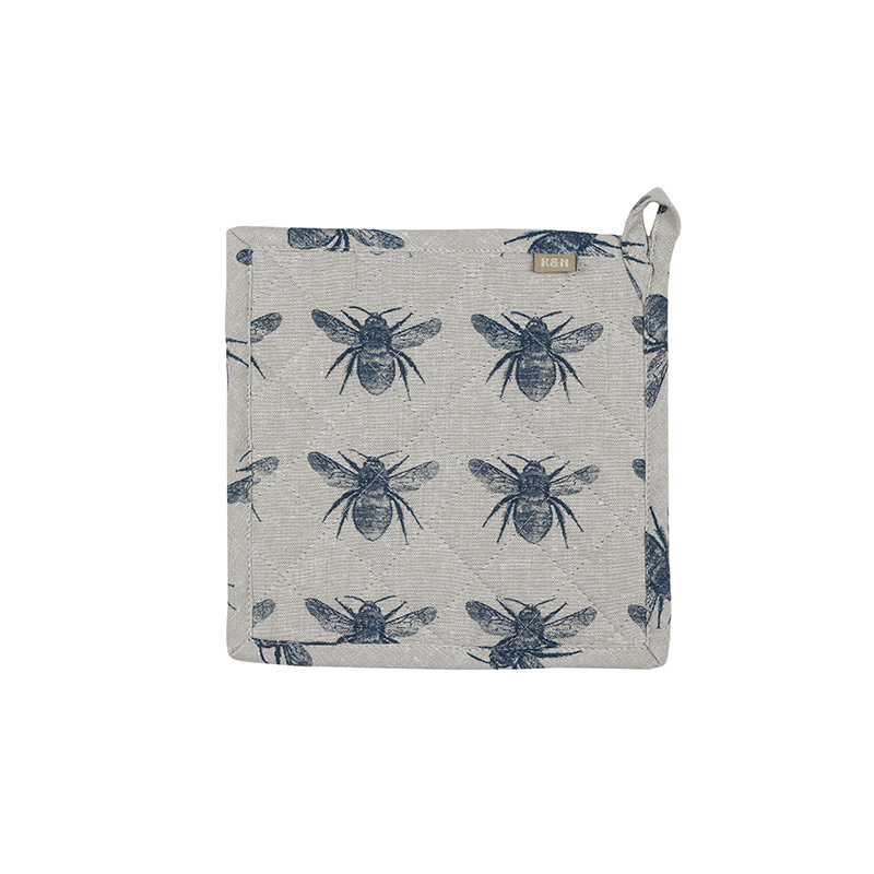 Recycled Honey Bee Trivet - Prussia Blue