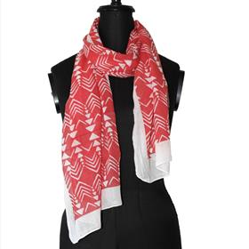 Red Clay Congo Print Scarf