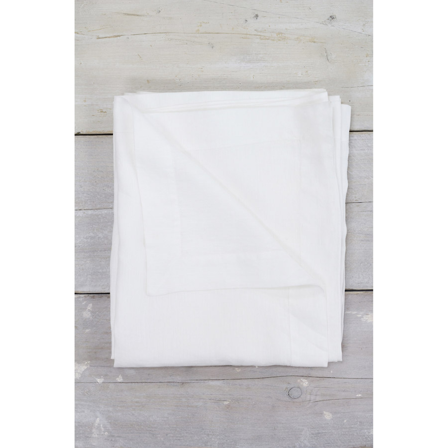 Linen Tablecloth White