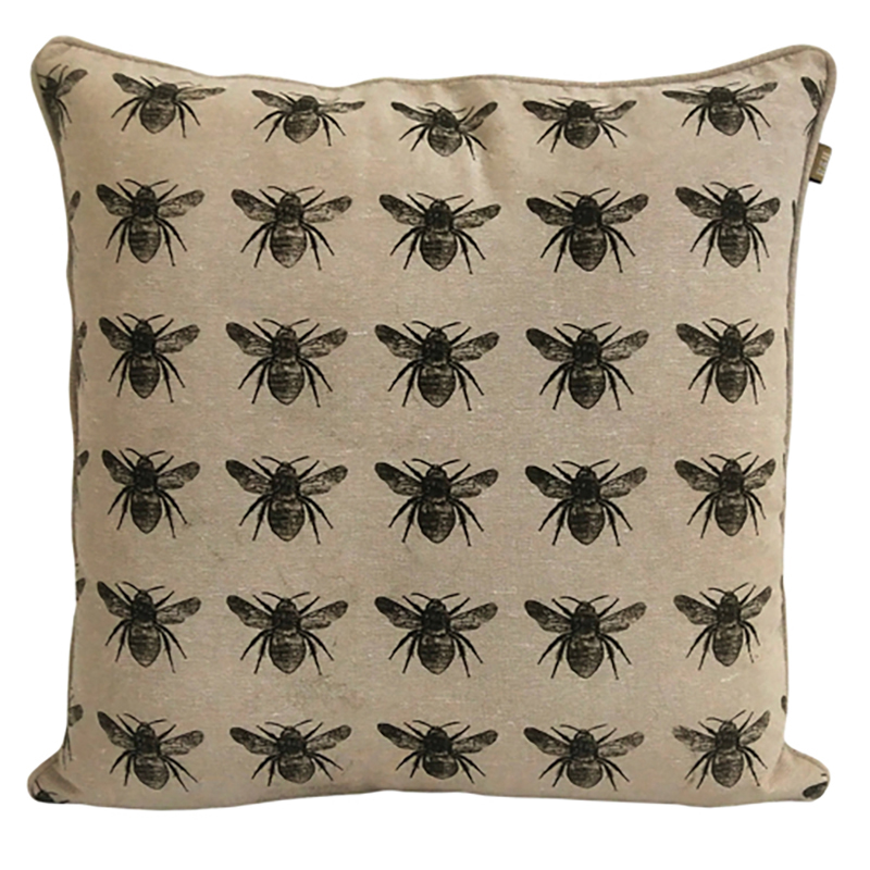 Recycled Honey Bee cushion Olive