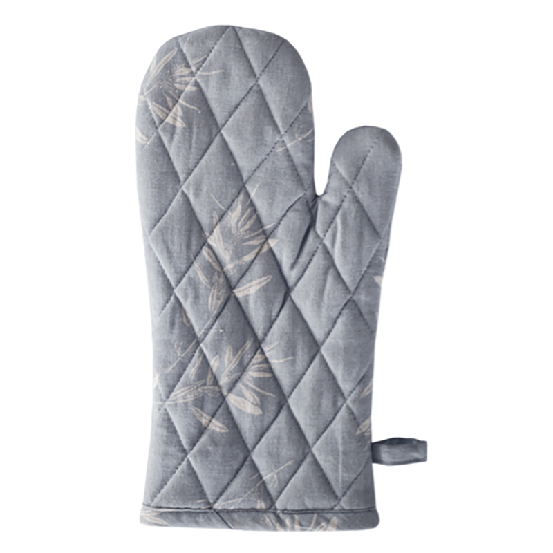 Olive Grove Oven Glove Blue Grey