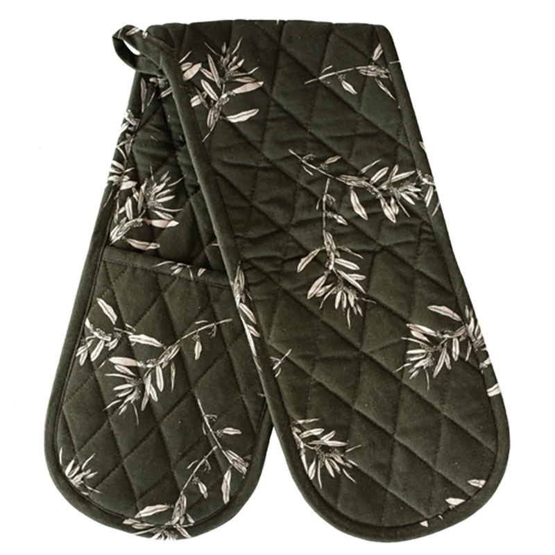 Olive Grove Double Oven Glove Olive Green