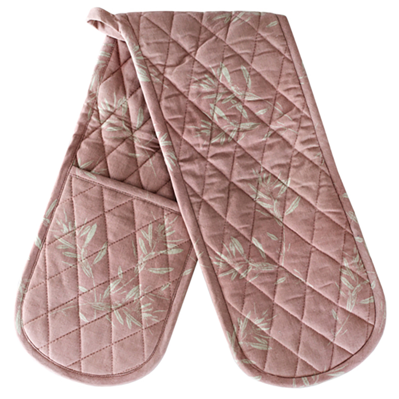 Olive Grove Double Oven Glove Mushroom Pink