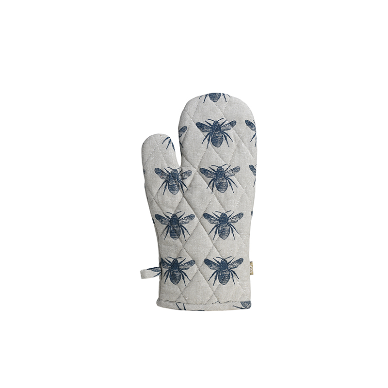 Recycled Honey Bee Single Oven Glove - Prussian Blue
