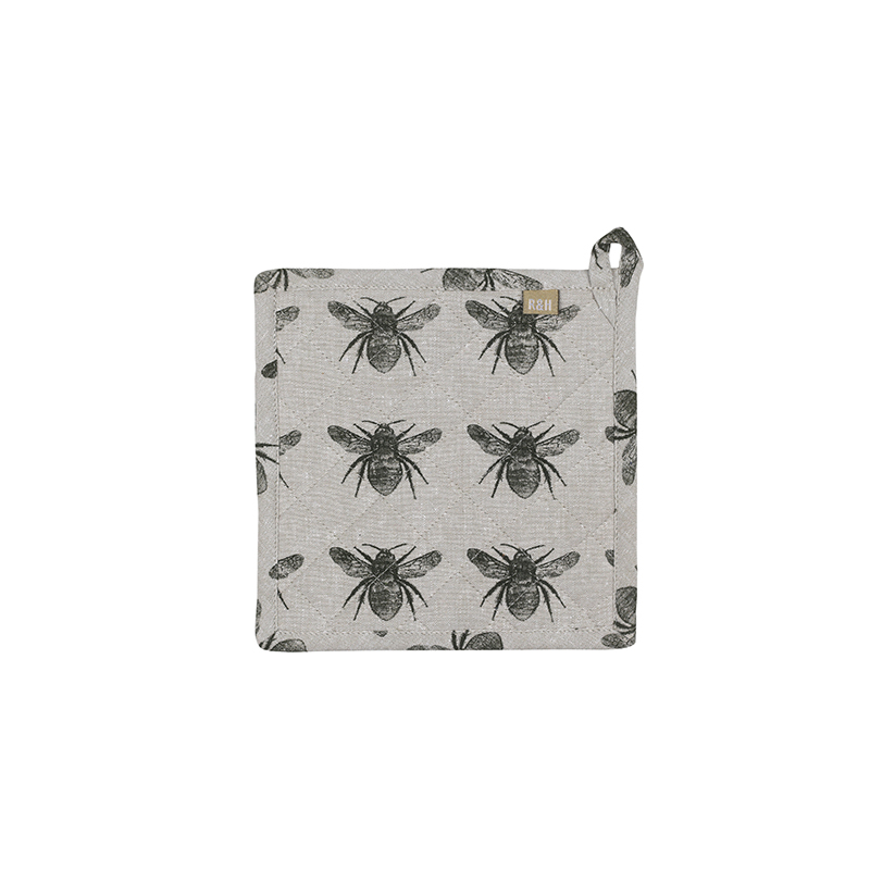Recycled Honey Bee Trivet - Olive Green