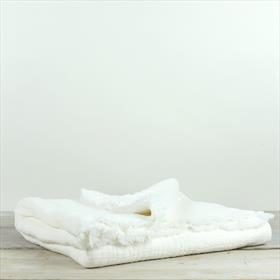 Simo Textured Large Throw/Wrap Warm White 140x220