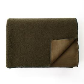 Sherpa and Suede Blanket Olive Green