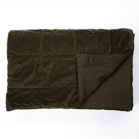 Velvet Coverlet Olive Green