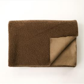 Sherpa and Suede Blanket Taupe