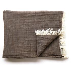 Soft Cotton Throw Earth