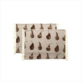 Pear Placemat Set of 4 (Double Layer) Earth