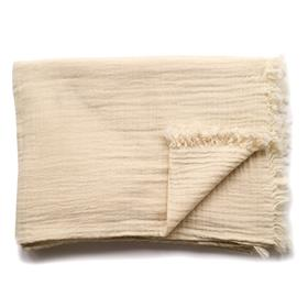 Soft Cotton Throw Natural