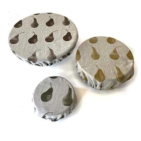 Pear Print Food Covers Set of 3