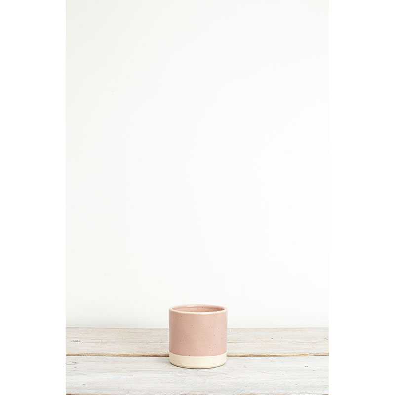 Tilli Blush Speckled Small Plant Pot 9.5x10cm