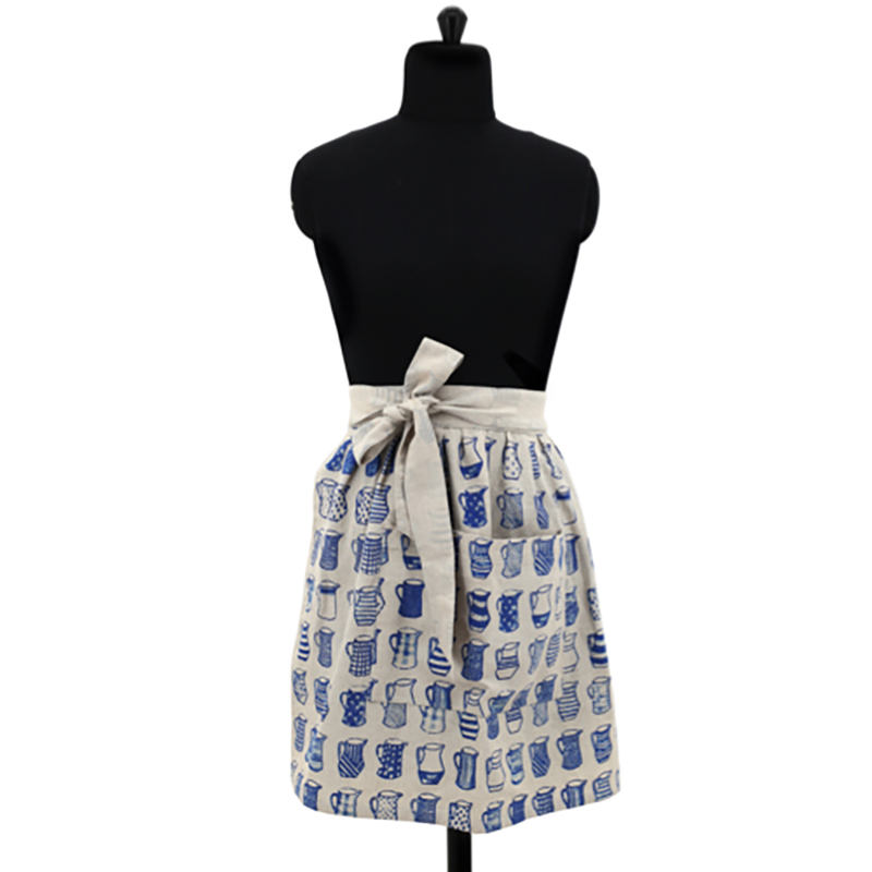 China Blue Half Apron