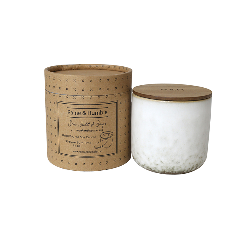 Scented Soy Candle/Canister Sea Salt & Sage