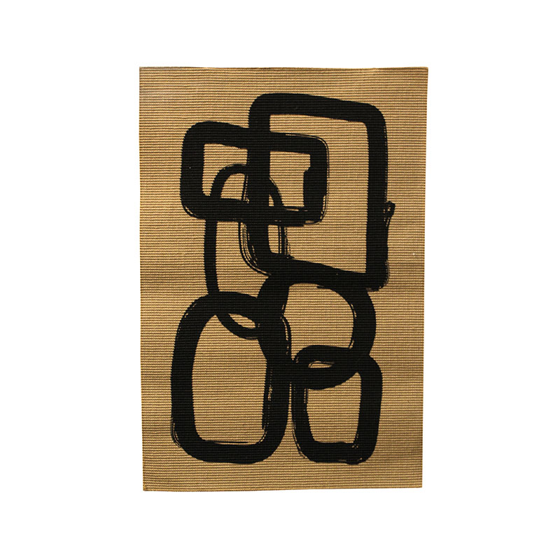 Abstract Jute Rug - small