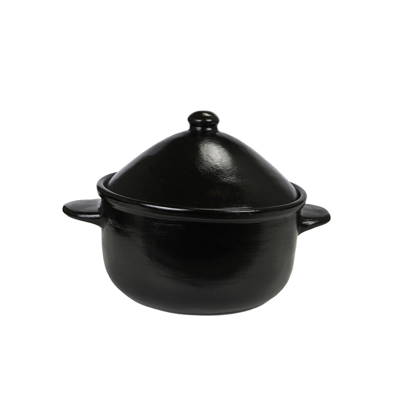 Small Contemporary Casserole with Lid
