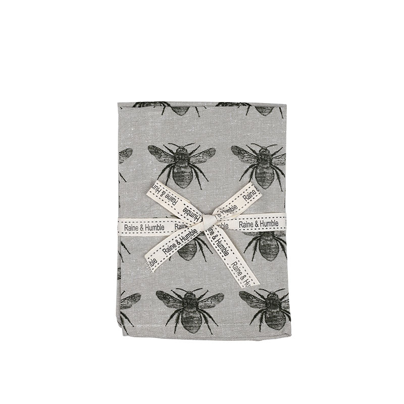 Recycled Honey Bee Napkin - Olive Green, Set of 4