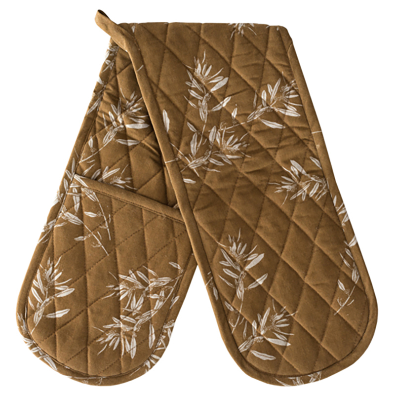 Olive Grove Double Oven Glove Mustard
