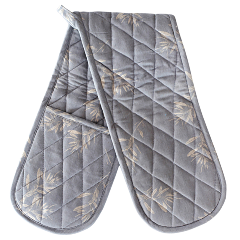 Olive Grove Double Oven Glove Blue Grey