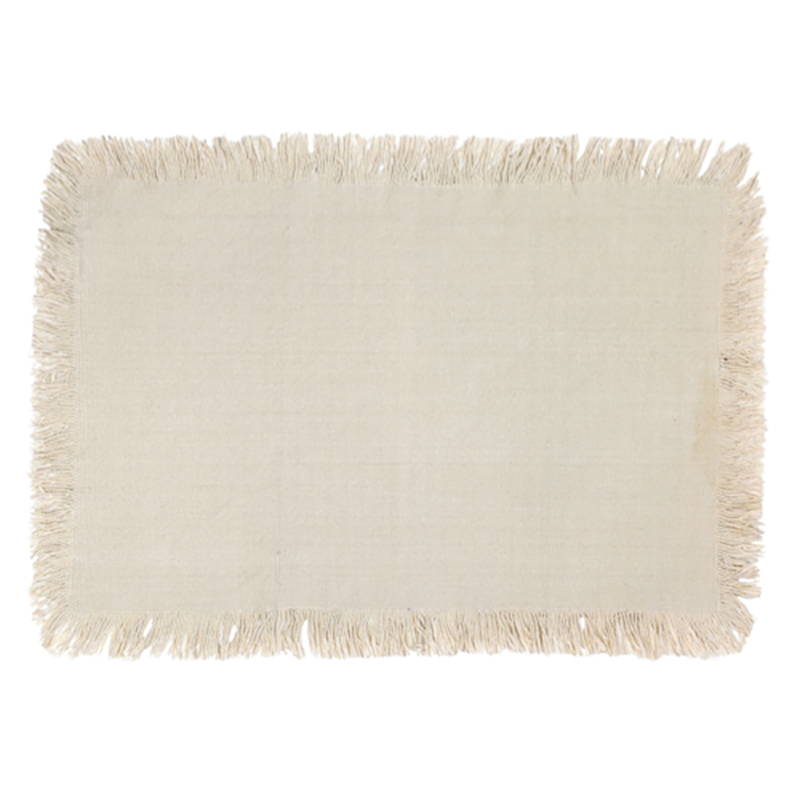 Jute Placemat with Tassel Taupe Single packaged