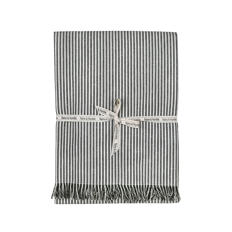 Abby Stripe Tablecloth Olive
