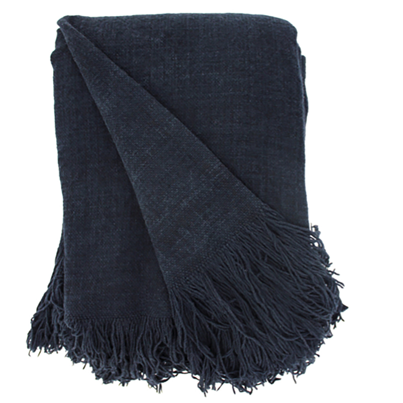 Jute Cotton Throw Denim