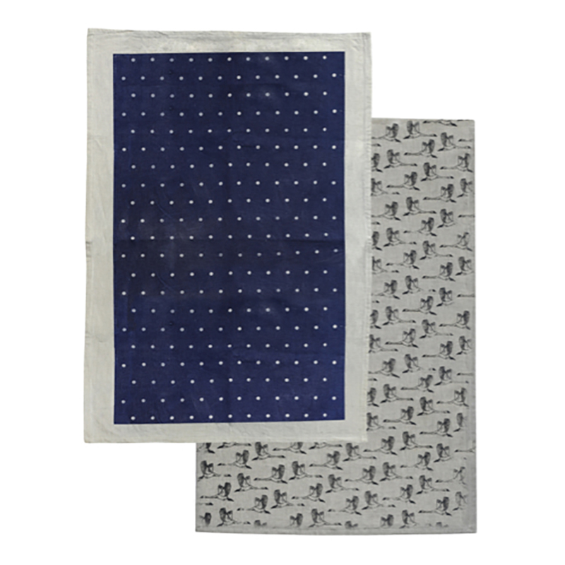 In Flight Tea Towel Pack 2 Denim