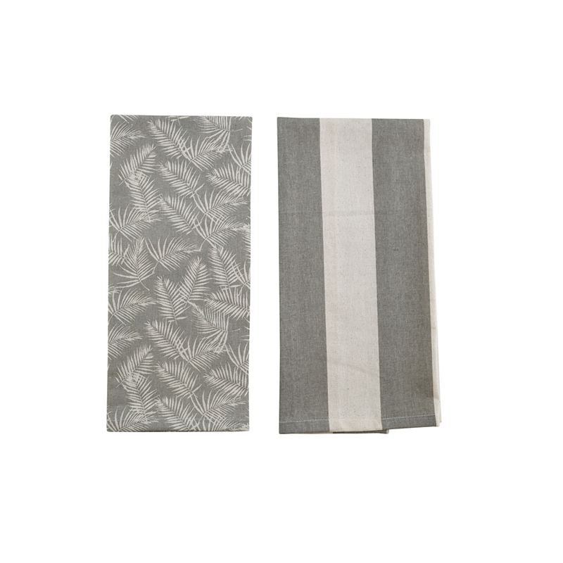 Palm Tea Towel 2 Pack Taupe