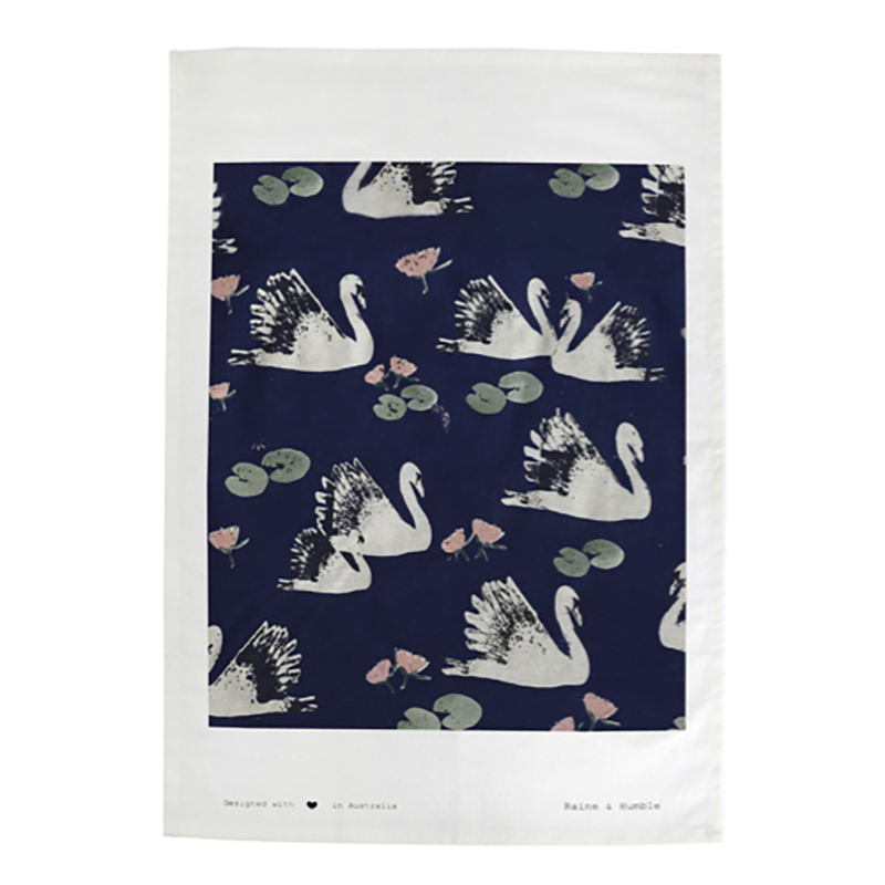 Swan Lake Single Tea Towel