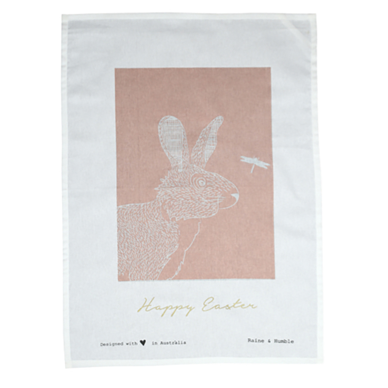 Reynard Tea Towel Pink