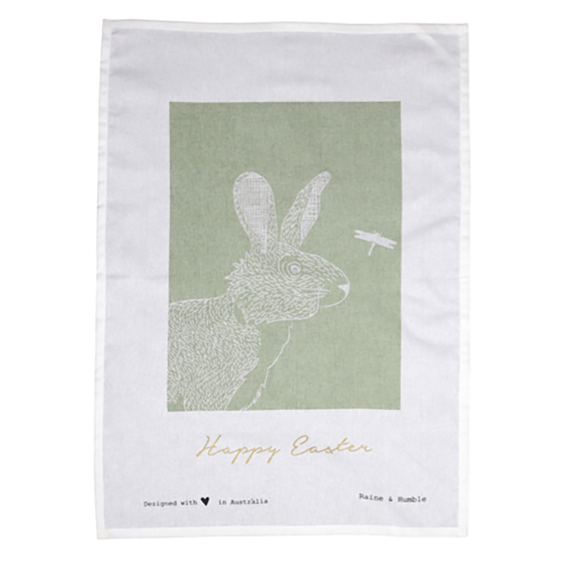 Reynard Tea Towel Green