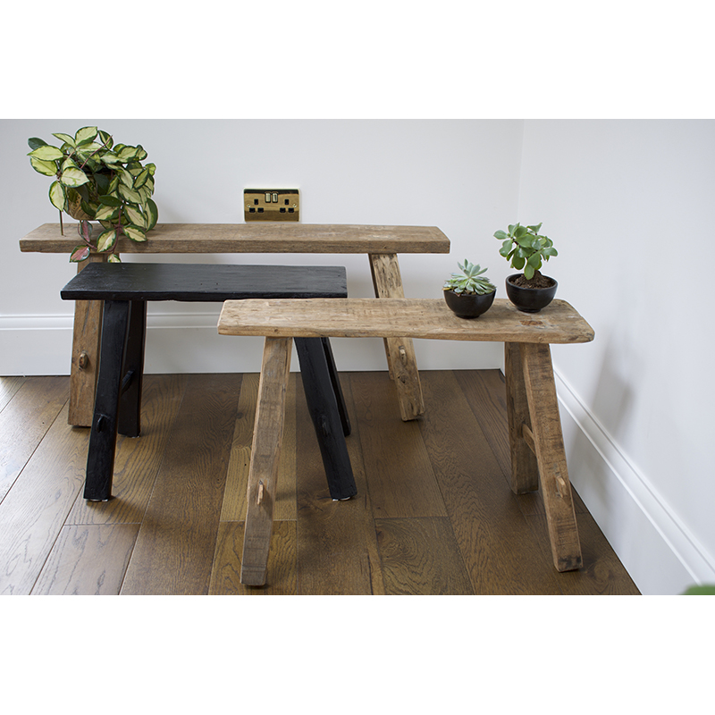 Recycled Wood Antique Bench Seat
